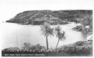 Vintage Real Photo Postcard, Bolt Head from Castle Point, Salcombe, Devon 49F