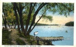 Bathing Beach at Lafayette Park Waterloo IA 1924