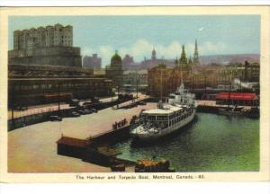 Harbor & torpedo Boat , MONTREAL , Quebec , Canada , 30-40s