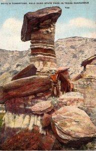 Texas Palo Duro State Park Devil's Tombstone 1950