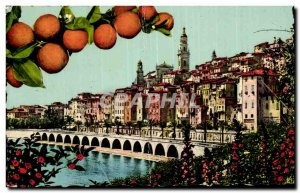 Postcard Moderne Menton General view of the old Menton