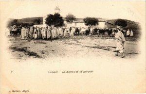 CPA Geiser 7; Aumale- Le Marché et la Mosquée, ALGERIE (765111)