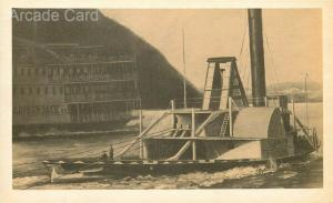 Steamship Norwich, Passenger Boat, Ferry, Tugboat, Hudson River, History Card