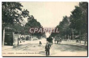 Paris Old Postcard Avenue de la Grande Armee