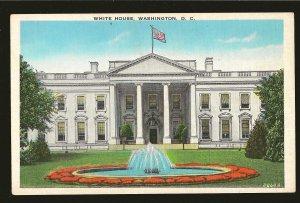 USA White House Washington DC Reynolds Linen Postcard
