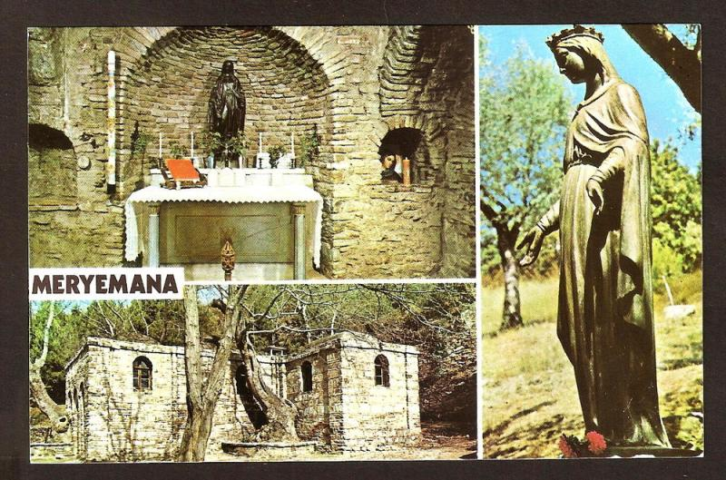 TURKEY VINTAGE-POSTCARD -MERYEMANA- HOUSE OF THE VIRGIN MARY
