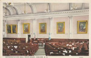 Representatives Hall in the State House - Concord NH, New Hampshire - WB