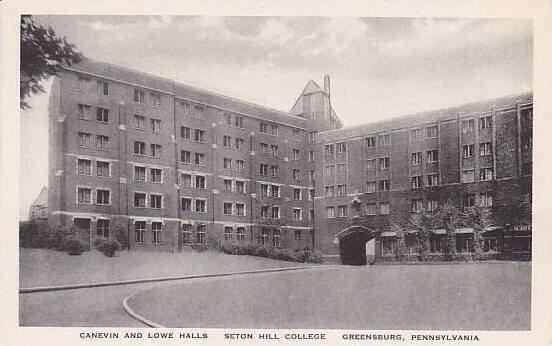 Pennsylvania Greenburg Canevin And Lowe Halls Seton College Albertype