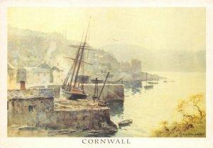 Cornwall Art Postcard, Polruan by E. W. Haslehust GD9
