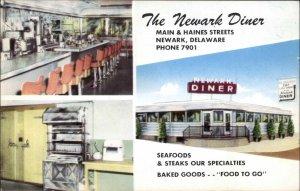 Newark DE Diner Multi View Postcard