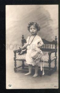 035286 Charming Girl in Nighty & Beads as Young Lady Old PHOTO
