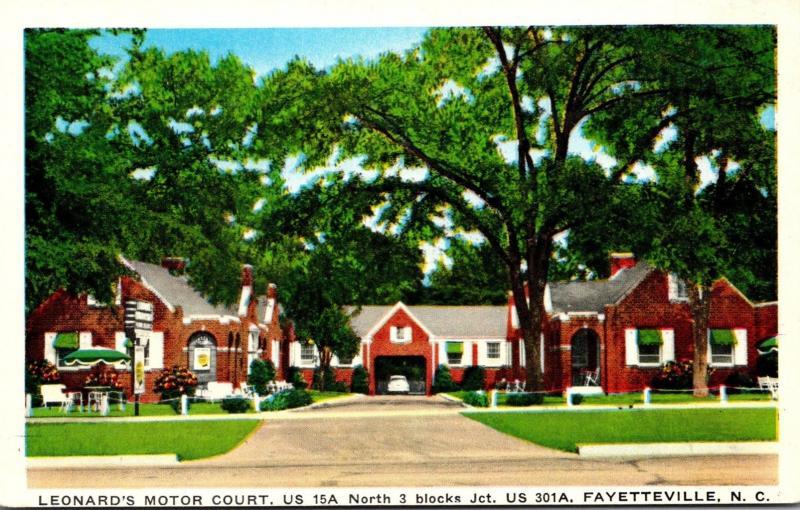 North Carolina Fayetteville Leonard's Motor Court