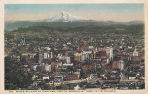 PORTLAND, Oregon, 1900-1910s, Bird's Eye View of Portland, Oregon, Showing Mt...