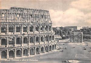 Italy Old Vintage Antique Post Card Roma Colosseo e Arco di Costantino Postal...