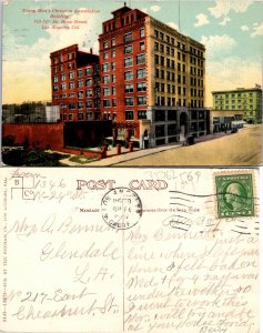 Los ANgeles CA Young Men's Christian Building Postcard Used (35762)