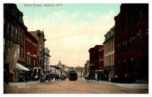 New York Auburn ,State  street , Trolley