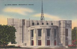INDIANAPOLIS, Indiana, 1930-1940's; Naval Armory