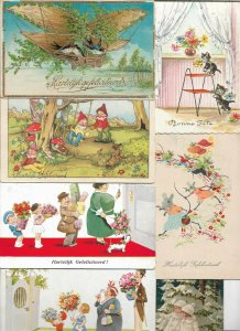 Happy Birthday Birds Gnomes Flowers and more Postcard Lot of 36 01.16