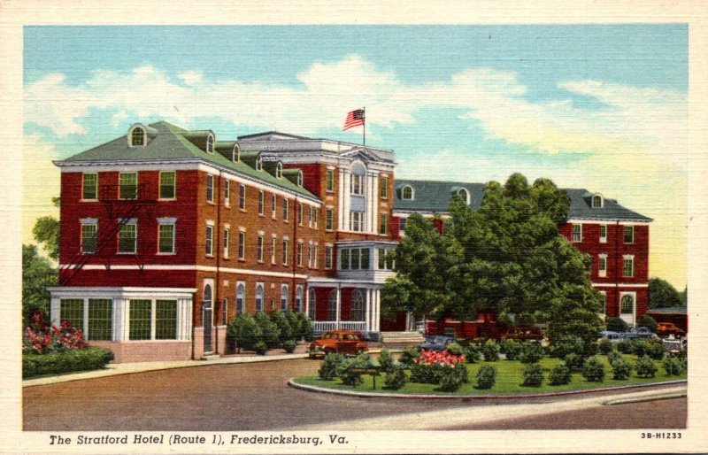 Virginia Fredericksburg The Stratford Hotel Route 1 Curteich