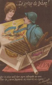 Soldier pops out a box of Cigars , La Crise du Labac! , 00-10s