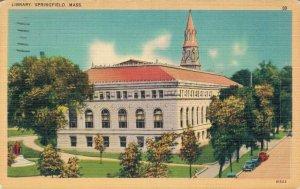 USA Library Springfield Massachusetts Postcard 07.52