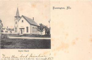 B86/ Harrington Maine Me Postcard 1906 Baptist Church Building