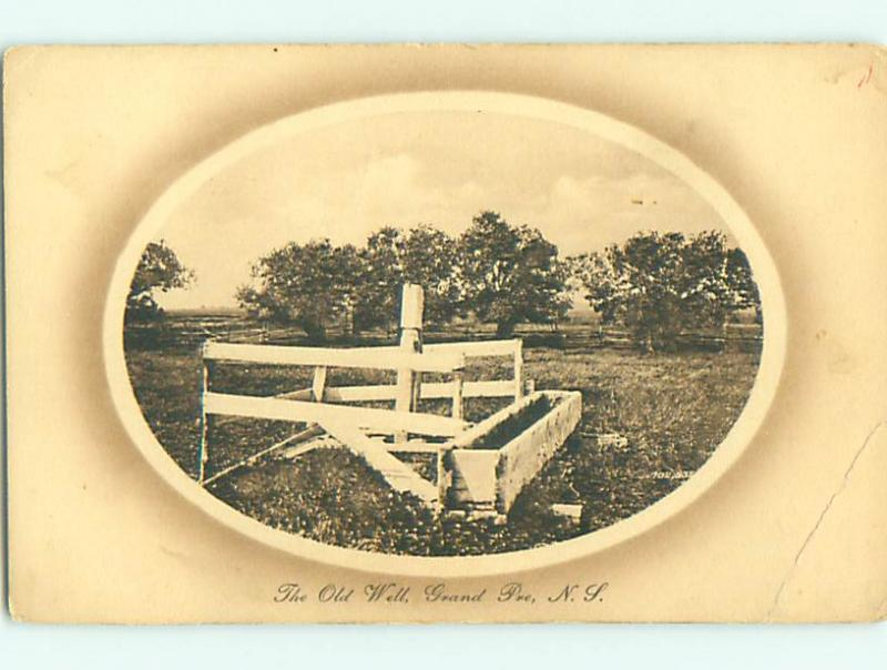 Unused Divided-Back THE OLD WELL IN GRAND PRE Nova Scotia CANADA v3868