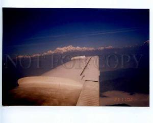 221421 NEPAL from plane view photo postcard