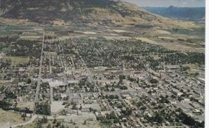 VERNON, British Columbia, Canada; Aerial View, Oksnagen Valley, 40-60s