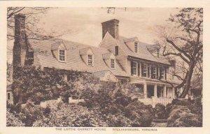 Virginia Williamsburg The Lottie Garrett House Albertype
