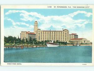Unused W-Border VINOY PARK HOTEL St. Saint Petersburg Florida FL u9287