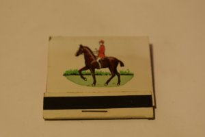 The Old Barn Burbank Illinois Horse and Rider Matchbook Variant