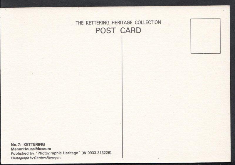 Northamptonshire Postcard - Manor House Museum, Kettering  CC840