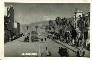 turkey, ALEXANDRETTE ISKENDERUN, Street Scene (1930s) RPPC Postcard