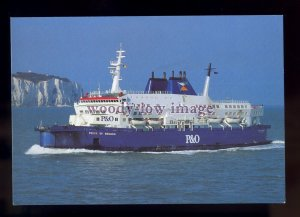 FE3015 - P&O Ferry - Pride of Bruges , built 1980 - postcard