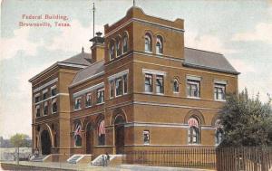 Brownsville Texas Federal Building Antique Postcard J52573