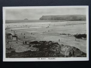 Cornwall POLZEATH The Beach c1950's RP Postcard
