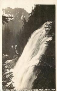1920s RPPC 1117 Narada Falls & Tatoosh Range, Rainier Nat'l Park WA, W.Andrews