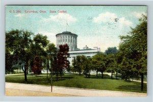 Columbus OH, State Capitol, Vintage Ohio c1908 Postcard
