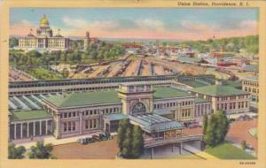 Union Railroad Station Providence Rhode Island Curteich