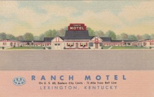 Kentucky Lexington The Ranch Motel Curteich sk2210