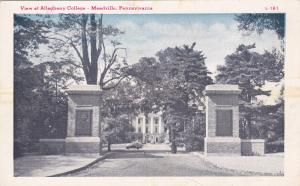 MEADVILLE, Pennsylvania, 1910-20s; View at Allegheny College