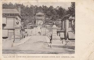 HOT SPRINGS, Arkansas, PU-1908; Grand Entrance Government Reservation