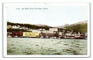 Postcard The Water Front, Ketchikan AK Alaska 1951 AJ14