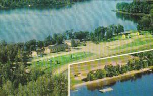 Canada Ontario Noelville Bear Lake Camp Aerial View