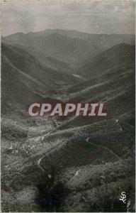 Postcard Modern range of aigoual (gard) laces road valleraugue