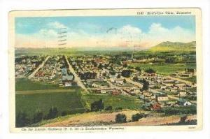Bird´s Eye View, Evanton, On The Lincoln Hwy (U.S. 30) In Southwestern Wyomi...