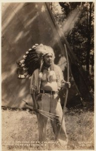 RP: CHEROKEE , North Carolina , 1920-30s ; Chief Standing Deer