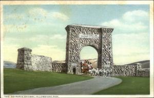 Yellowstone National Park Gateway c1910 Detroit Publishing Postcard