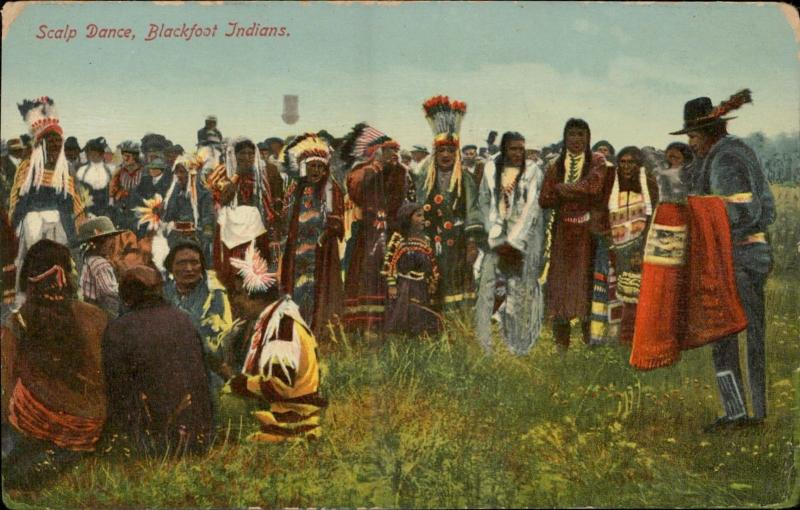 Scalp Dance Blackfoot Indians Native American Indian